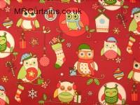 Christmas Owls (Christmas Fabrics) by Clarke & Clarke / Studio G