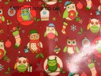 Christmas Owls (Christmas PVC) by Clarke & Clarke / Studio G