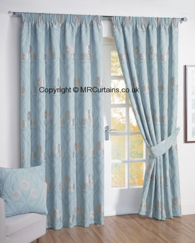 Duckegg curtain