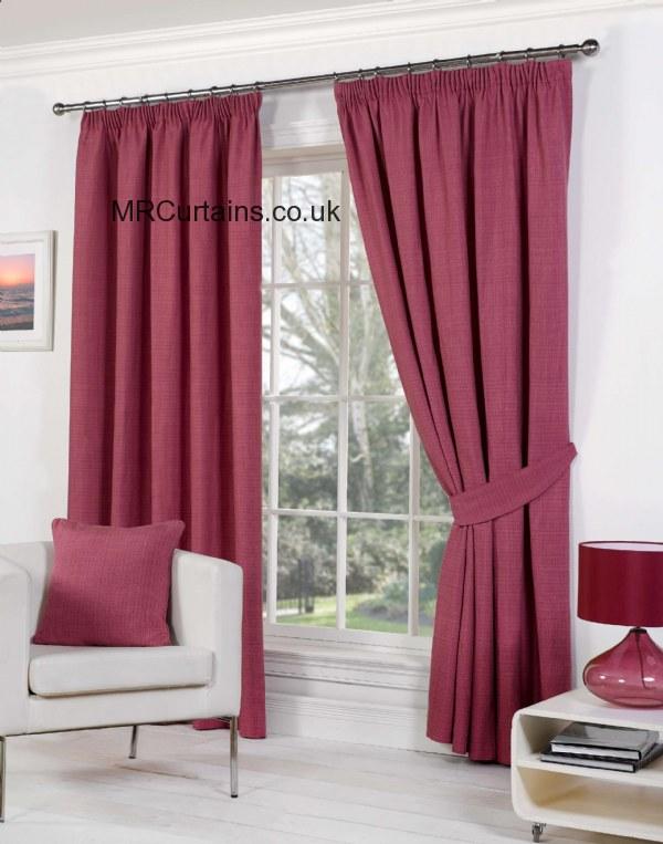 Sundour Rome Pencil Pleat Curtain From 163 24 64 In Raspberry