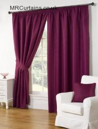 Aubergine ready made curtains