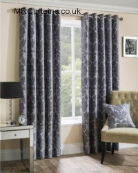 Silver ready made curtains