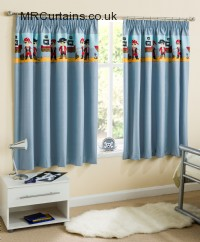 Blue ready made curtains