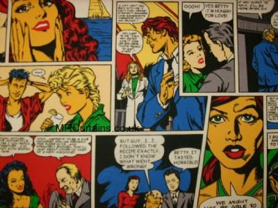 Comics curtain fabric