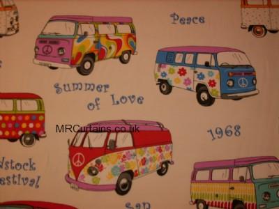Hippies (Camper Van) curtain fabric