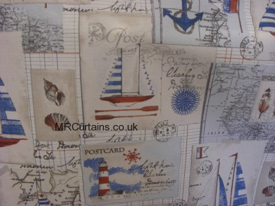 Nautical curtain fabric