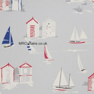 Beach Huts made to measure curtain