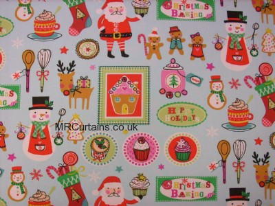Christmas Bake (Christmas Fabrics) made to measure curtain