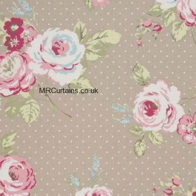 English Rose made to measure curtain