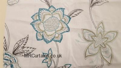 Teal / Sage curtain