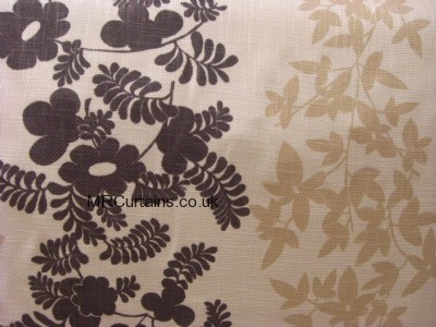 Brown/Cream curtain