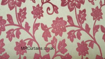 Burgundy curtain