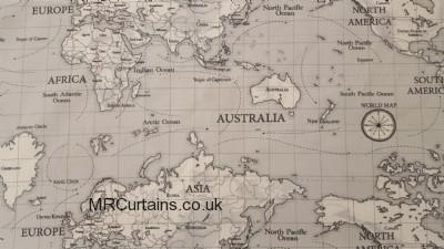Maps curtain fabric