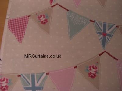 Bunting curtain fabric