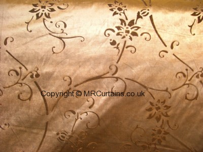 Flowers curtain fabric