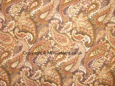 Paisley made to measure curtain