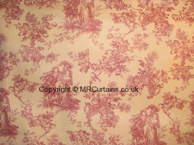 Toile cushion cover