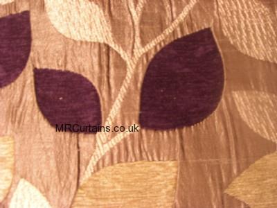 Aubergine curtain