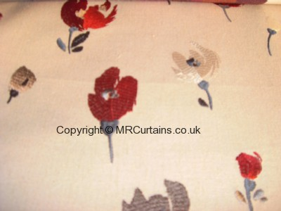 Navy/Red curtain