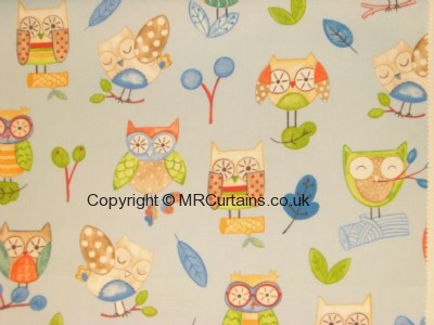 Ollie owl curtain fabric
