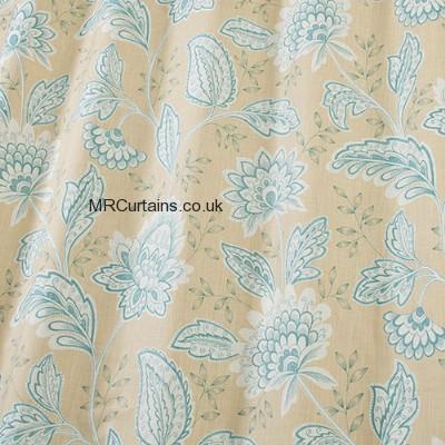 Slub Azure curtain