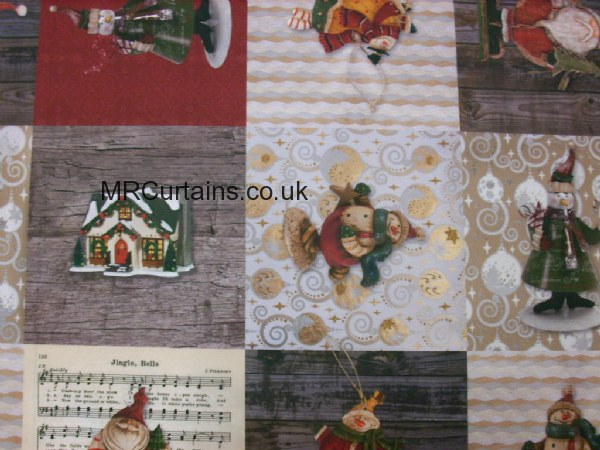 Curtains Ideas christmas curtain fabric : Jingle Bells (Christmas Fabric) by Chatham Glyn Fabrics Curtain ...
