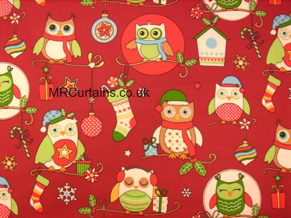 Curtains Ideas christmas curtain fabric : Christmas Owls (Christmas Fabrics) by Clarke & Clarke / Studio G ...