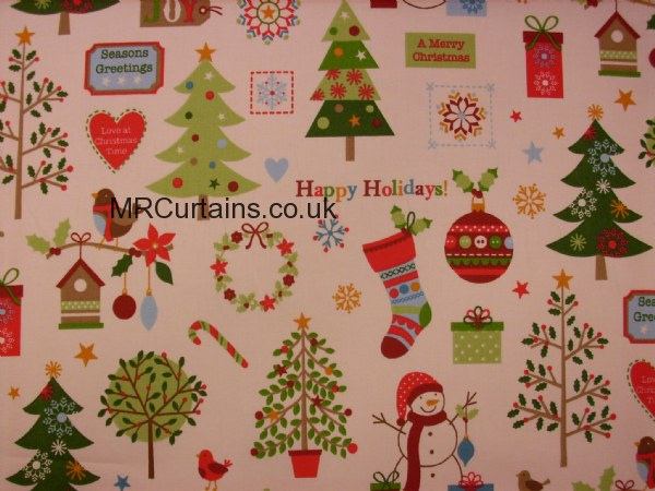 Curtains Ideas christmas curtain fabric : Winter Wonderland (Christmas Fabrics) by Clarke & Clarke / Studio ...