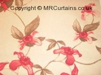 Rosewood curtain fabric material