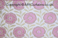 Hot Pink curtain fabric material