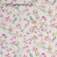 Pink curtain fabric material