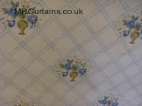 Blue curtain fabric material