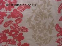 Pink/Cream curtain fabric material