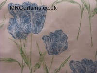 Blue curtain fabric material