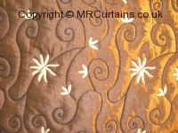 Chocolate curtain fabric material