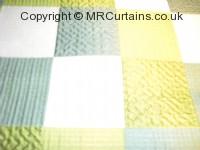Aquamarine curtain fabric material