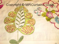 Rose curtain fabric material