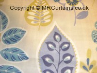 Vintage Blue curtain fabric material