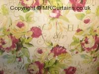 peony curtain fabric material