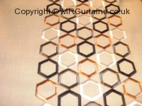 Ginger curtain fabric material