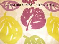 Damson curtain fabric material