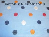 Cobalt curtain fabric material