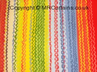Watercolour curtain fabric material