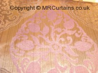 Amethyst curtain fabric material