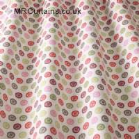 Magenta curtain fabric material