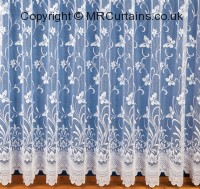 White net curtains