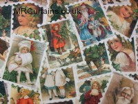 Christmas Stamps (Christmas Fabric) by Chatham Glyn Fabrics