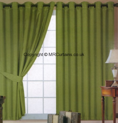 Faux Silk (Eyelets) ready made curtain