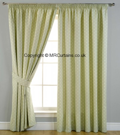 Dotty (Blackout) (Pencil Pleat) ready made curtain