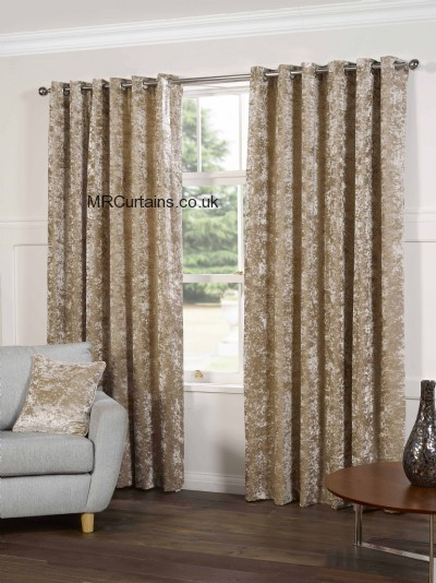 Plush (Eyelet Header) ready made curtain